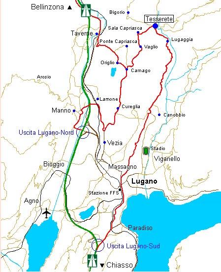 Manno Svizzera Cartina.Come Arrivare A Sala Capriasca